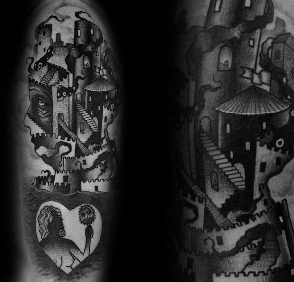 Distinctive Male Mc Escher Tattoo Designs