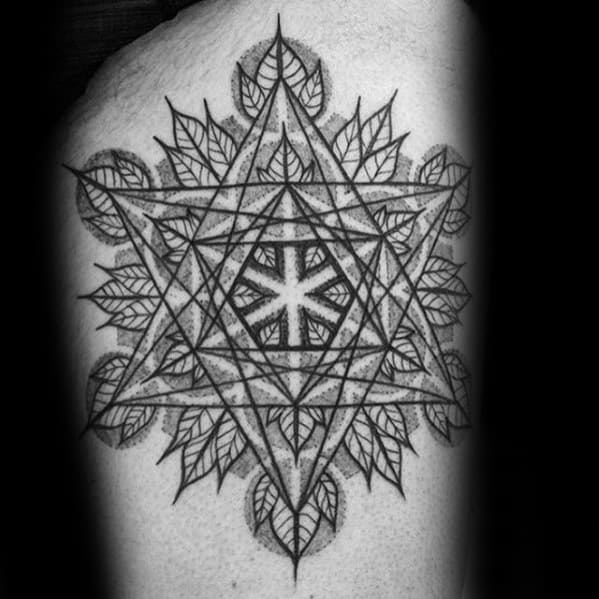 Distinctive Male Metatrons Cube Tattoo Designs