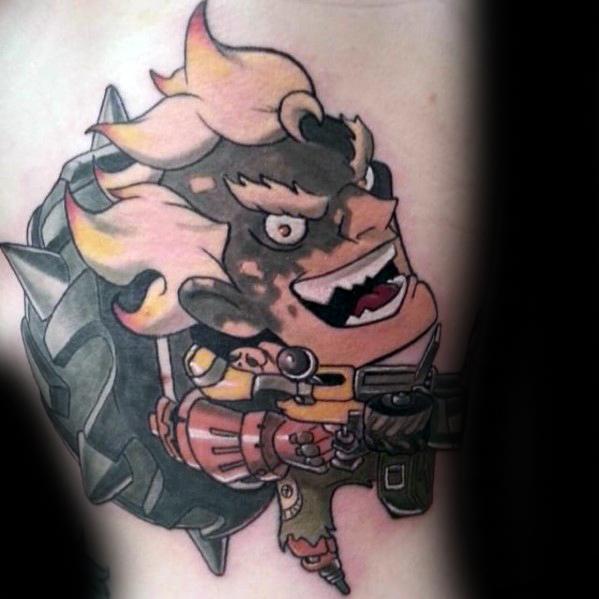 Distinctive Male Overwatch Tattoo Designs