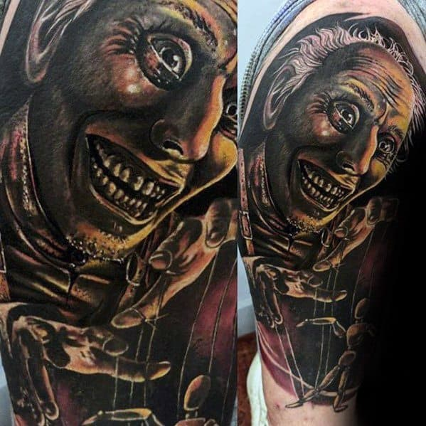 Distinctive Male Puppet Tattoo Designs