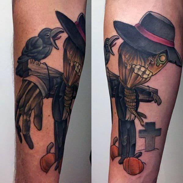 Distinctive Male Scarecrow Tattoo Designs