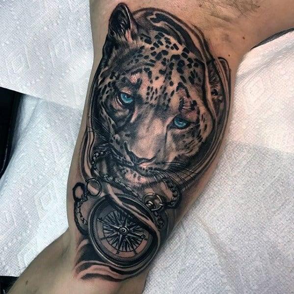 Distinctive Male Snow Leopard Tattoo Designs