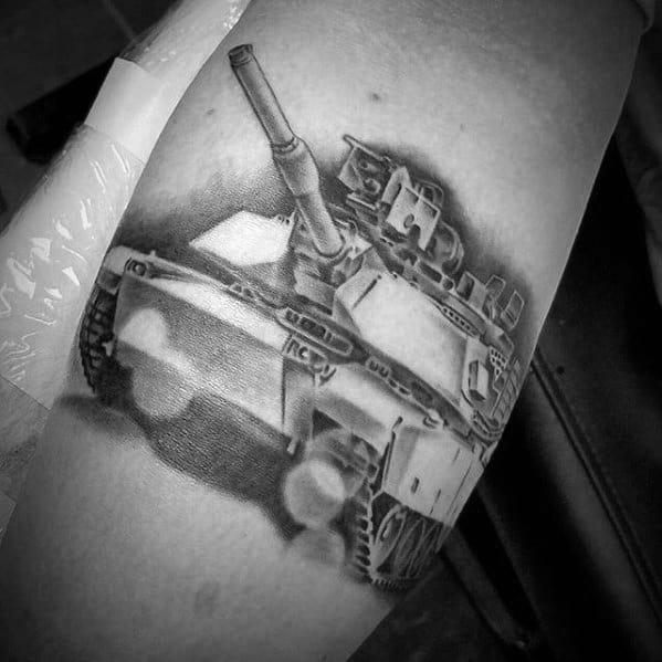 Distinctive Male Tank Tattoo Designs