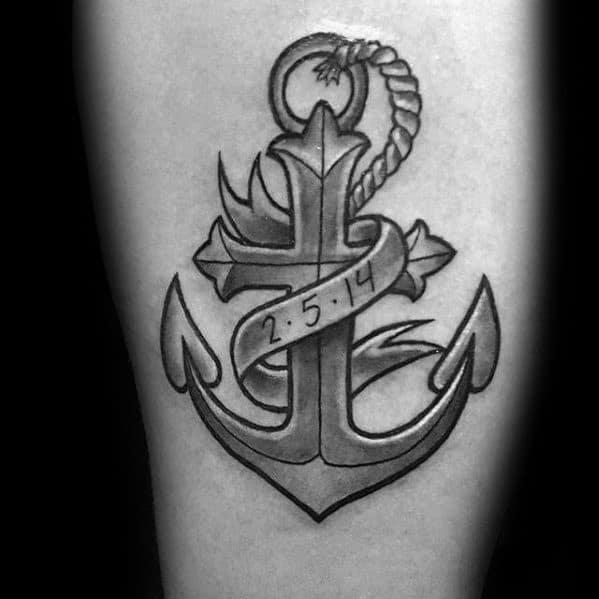 Distinctive Male Traditional Cross Tattoo Designs