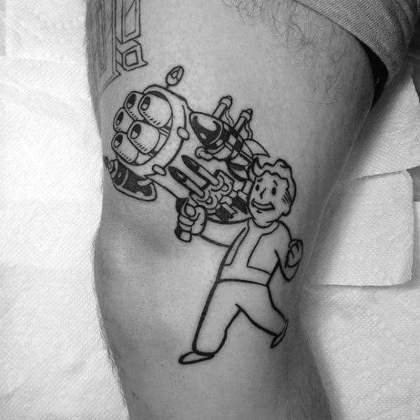 Distinctive Male Vault Boy Tattoo Designs