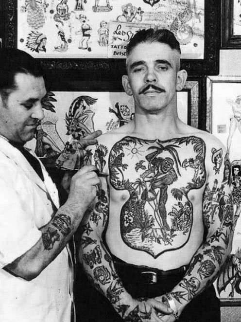 Distinctive Male Vintage Tattoo Designs