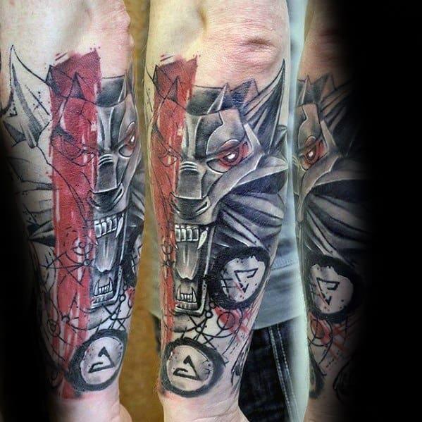 Distinctive Male Witcher Tattoo Designs