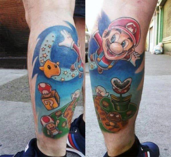 Distinctive Mario Tattoos For Men