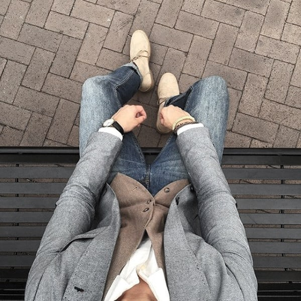 Distinctive Mens Business Casual Outfits Styles Jeans With Grey Blazer