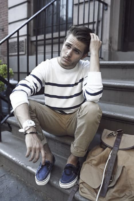 Distinctive Mens Khaki Pants What To Wear With Outfits Styles Striped White Sweater