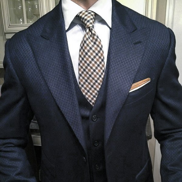 Distinctive Mens Navy Blue Suit Styles