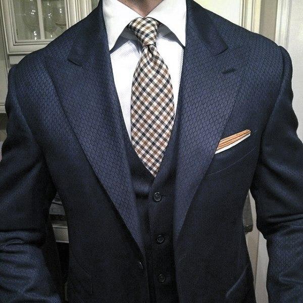 Distinctive Mens Navy Blue Suit Styles
