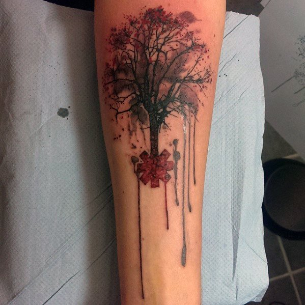 Distinctive Red Hot Chili Peppers Tattoos For Men