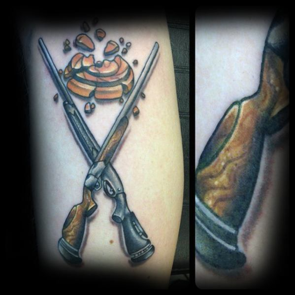 Pardonnez-moi Seigneur car je suis allé chez SAIL Distinctive-shotgun-clay-tattoos-for-men