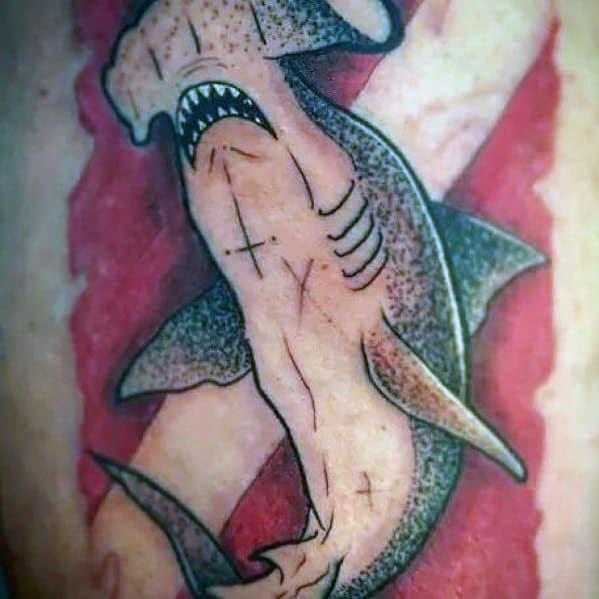 Dive Flag Tattoo Designs For Men