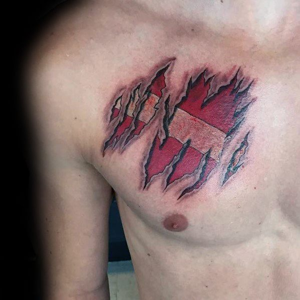 Dive Flag Tattoos For Men