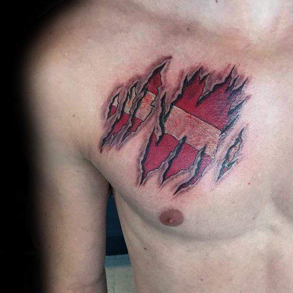 Dive Flag Tattoos For Men