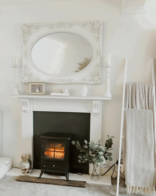 Diy All White Faux Fireplace Surround Griffiths Kirsty