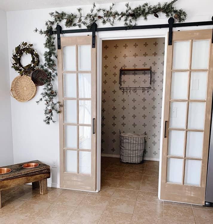 Diy Boho Style French Barn Door