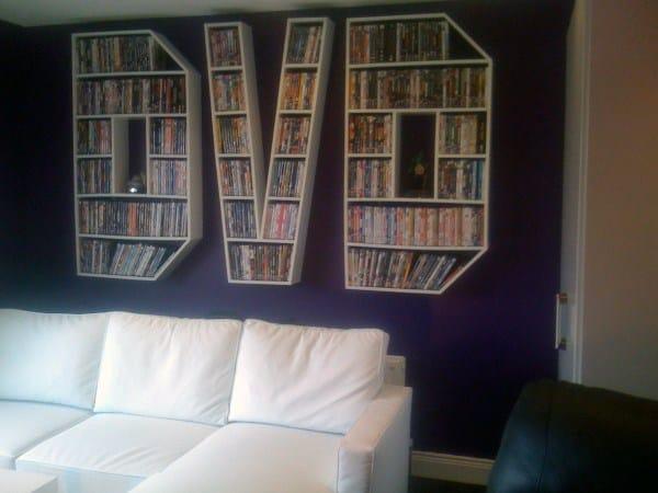 Diy Dvd Storage Wall