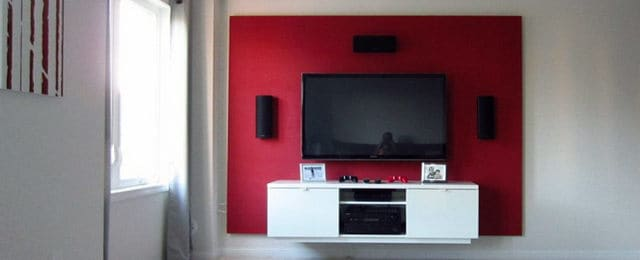 DIY Floating Wall TV Stand Bachelor Pad