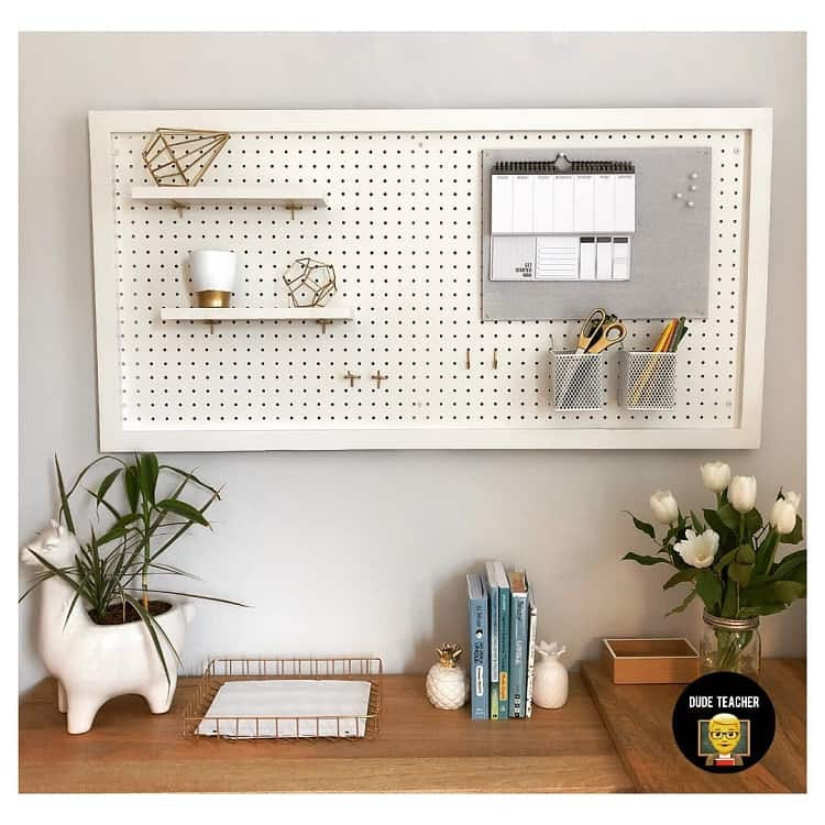 Diy Home Office Pegboard Ideas Dude.teacher