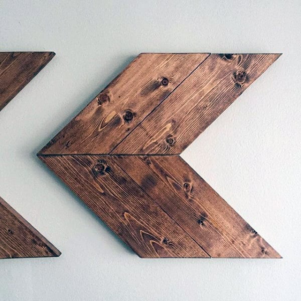 Diy Man Cave Decor Wood Arrows Wall Art