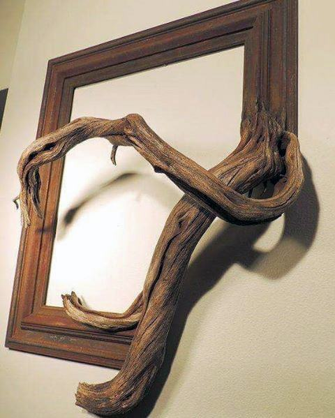 Diy Man Cave Ideas Picture Frame With Wood Branch Design