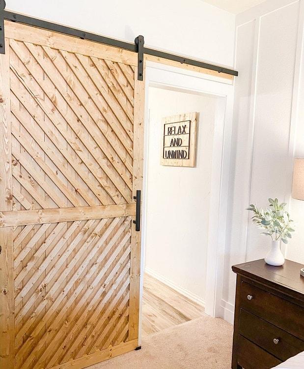 Diy Master Bathroom Modern Barn Door