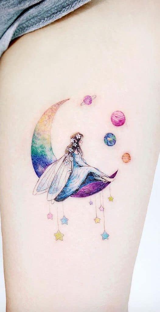 Diy Moon Colored Fairy Tattoo