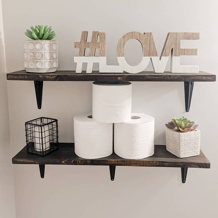 Diy Rustic Bathroom Shelf Brackets Makingmyhappyplace