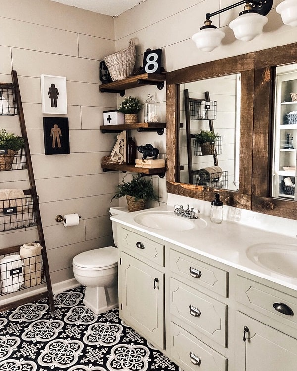 Diy Shelving Farmhouse Bathroom Decor Functionalfarmhouse