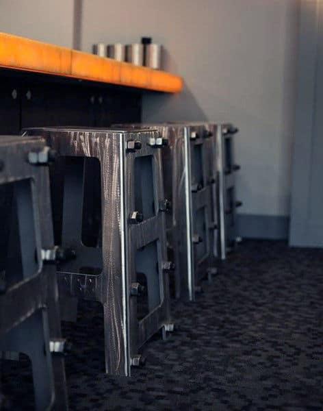 Diy Steel Bar Stools Man Cave Furniture