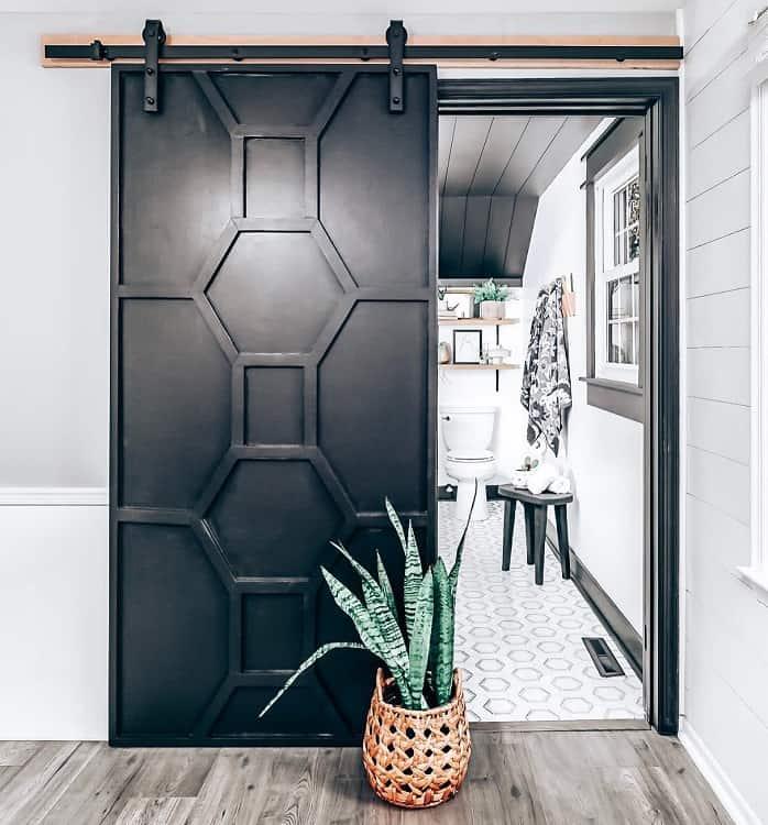Diy Wood Wrok Black Modern Barn Door