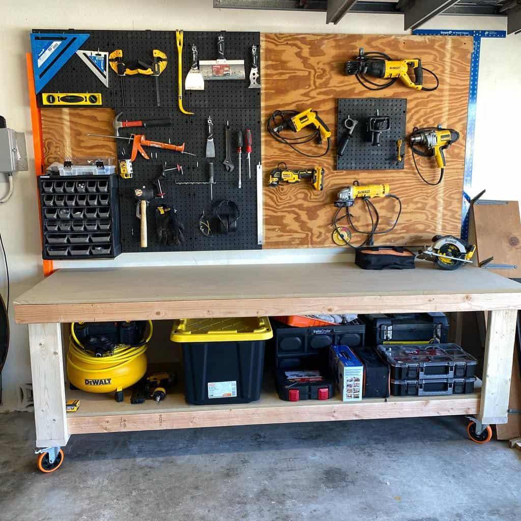 diy work bench ideas dona.s_woodshop