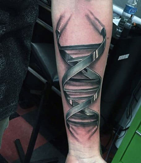 DNA 3 Dimensional Tattoos For Men