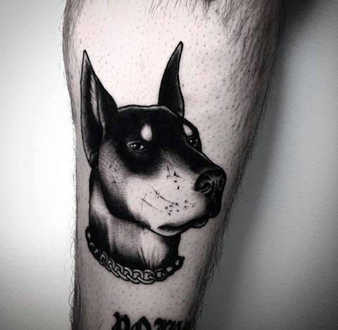 Doberman Dog Guys Tattoos On Arm