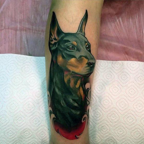 Doberman Pincher Male Tattoo Designs