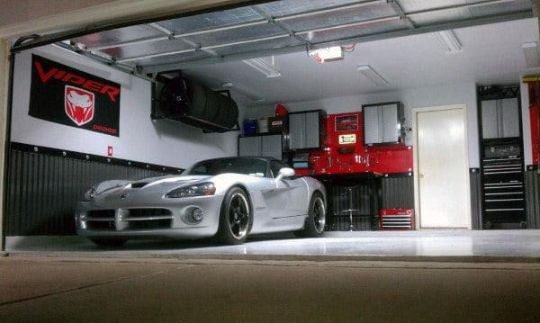 Dodge Viper Themed Garage Storage Ideas