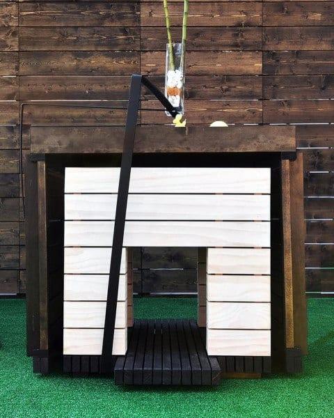 Dog House Ideas White Painted Wood