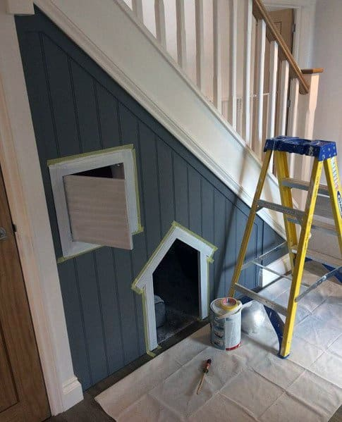 Dog House Interior Designs Under Stairss