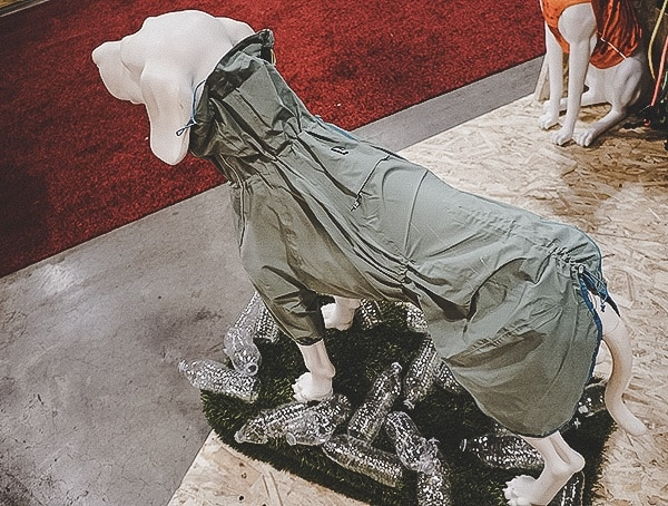 Dog Rain Jacket Made From Recycled Plastic Bottles