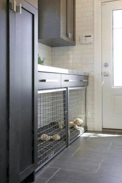 Dog Room With Built In Cage Mudroom
