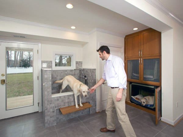 Dog Room With Washing Station