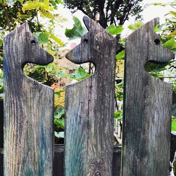 Dog Themed Fence Top Post Ideas