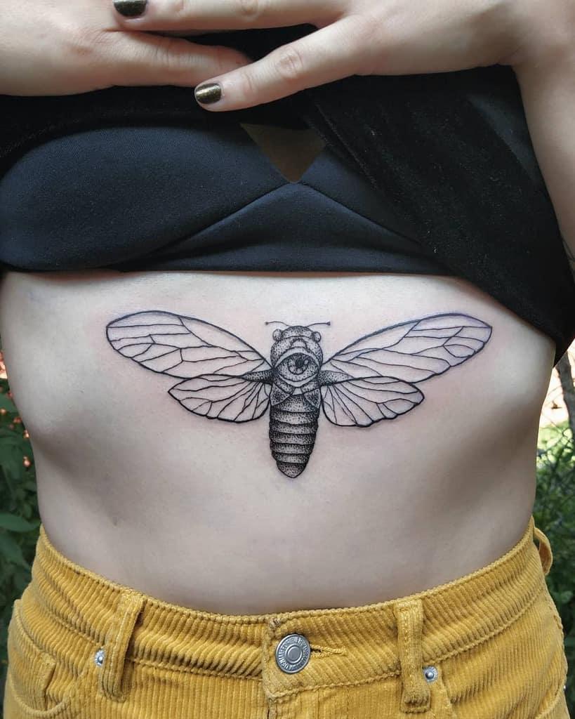 dotwork Cicada Tattoos roxanaasimov