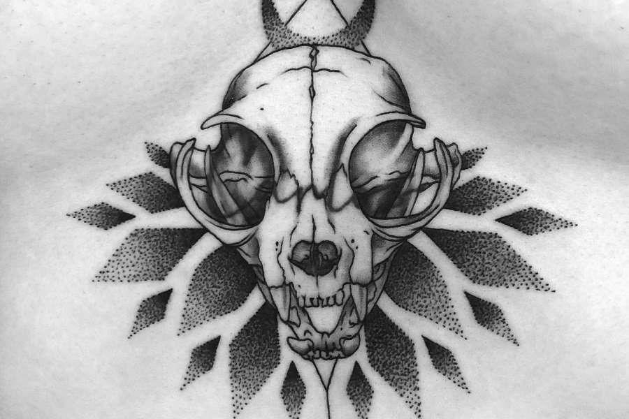 Top 67+ Best Cat Skull Tattoo Ideas – [2021 Inspiration Guide]
