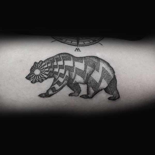 Dotwork Geometric Guys California Arm Tattoo