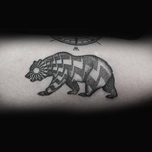 Dotwork Geometric Guys California Arm Tattoo