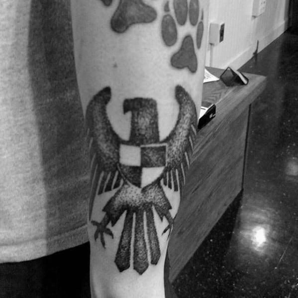 Dotwork Guys German Eagle Forearm Tattoo